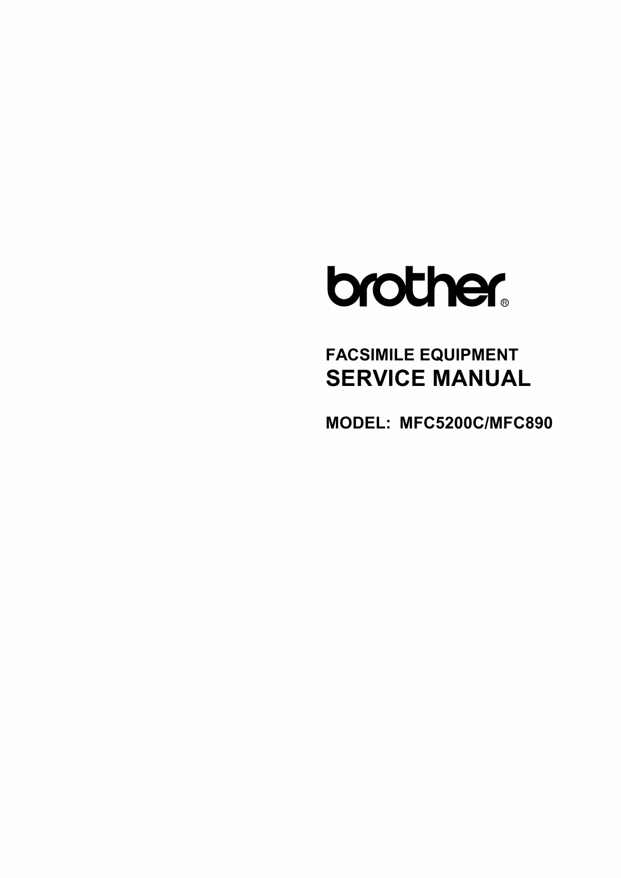 Brother MFC 890 5200C Service Manual-1
